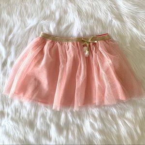 Isaac Mizrahi pink & gold glitter mesh tutu skirt